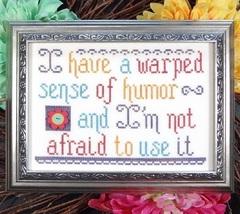 Warped Humor cross stitch chart My Big Toe Designs - $8.00