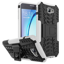 Armor with kickstand Protective Case for Samsung Galaxy On7 (2016) - White  - $4.99