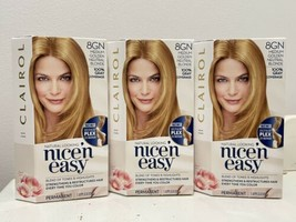 3x Clairol Nice'n Easy Hair Dye Color 8GN Medium Golden Neutral Blonde - $34.64