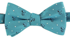Snoopy Mens Bow Tie Adjustable Neck Pretied Peanuts Toon Dog Turquoise N... - $29.95