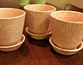 SHAWNEE VTG Pottery USA Pink Herb Planters Pots 3 Available - $22.27
