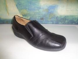 Black Sholl's Dr 8 Shoe Ladies SZ Leather B Loafer SqqBHRT