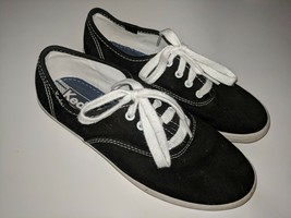 Keds Made In USA Collection Tennis Shoes Girls 3.5 / 35.5 Black Classic - £25.62 GBP