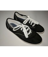 Keds Made In USA Collection Tennis Shoes Girls 3.5 / 35.5 Black Classic - $42.07 CAD