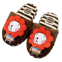 Funny Lion Slippers Warm Winter Slippers for Boys 5-9 Years Old