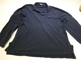 Navy Blue Long Sleeve Ralph Lauren Polo Shirt Size XL Bin T - $17.00
