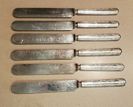 WM. Rogers & Son Set of 6 Warranted 12 Dwt Silver Plated Table Knife - $39.55