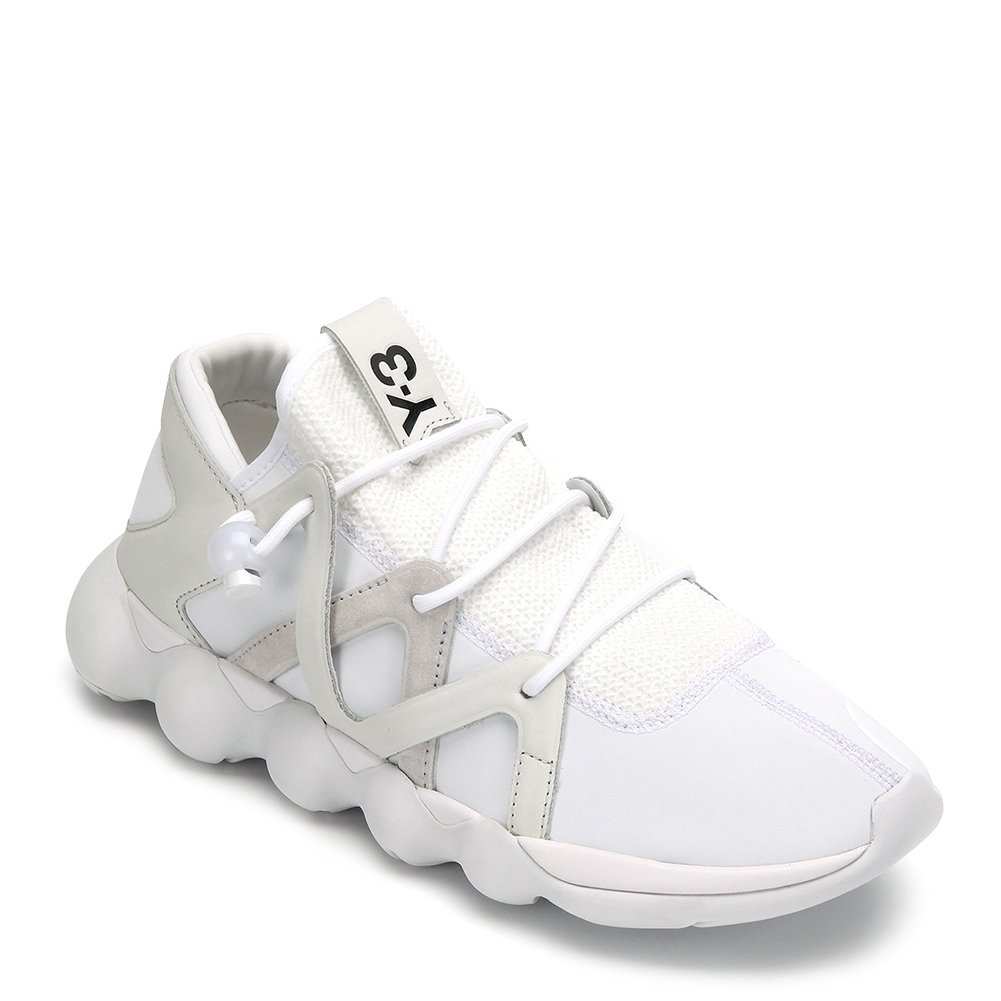 Y-3 Men's KYUJO Low Top Sneakers S82125 (UK 7.5 / US 8, FTW WHITE/CRYSTAL WHITE/
