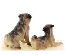Hagen Renaker Dogs Pug Mama and Baby Tan Ceramic Figurine image 6