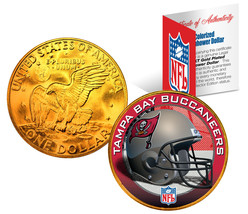 TAMPA BAY BUCS NFL 24K Gold Plated IKE Dollar US Coin OFFICIALLY LICENSED - £7.79 GBP