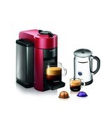 Nespresso Coffee & Espresso Maker Machine w/ Aeroccino & Milk Frother Re... - £232.93 GBP