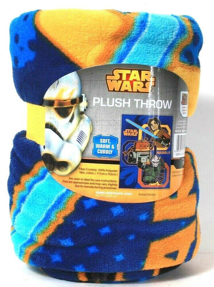 Jay Franco & Sons Star Wars Rebels 46 In X 60 In Polyester Soft Warm Plush Throw - $23.99