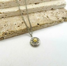 Vintage Sarah Coventry Silver Tone Faux Pearl Small Locket Pendant Neckl... - $16.99