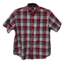 Chaps easy care youth boys plaid short sleeve button front size XL/TG/EG - $16.28