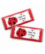 Happy Little Ladybug - Candy Bar Wrapper Baby Shower or Birthday Party F... - $15.96