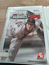 Nintendo Wii Major League Baseball 2K9 ~ COMPLETE image 2