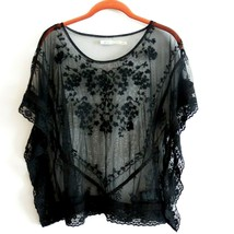 Kiimchi Blue Urban Outfitters Womens Sheer Lace Overlay Top S - $44.06