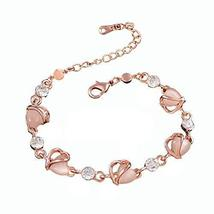 Hand Jewelry Fashion Jewelry Amethyst Bracelet Heart-shaped Rose Gold Bracelet