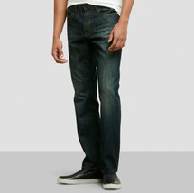 Kenneth Cole Blasted Wash Straight J EAN, Indigo, Size 28x30 - $34.64