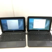 "Lot Of (2) Hp Chromebook 11 G4 11.6"" V2W30UT N2840 2.16GHz 4/16GB RAM/SSD - $56.09"