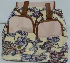 Howards Purse Backpack Set Yellow Multicolor Paisley Type Print Canvas image 11