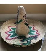 Large Mexican Straw Sombrero Hat  Zapata Spanish Cinco De Mayo Halloween... - $23.03