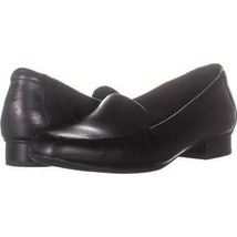 Clarks Juliet Lora Slip-On Loafers 635, Black Leather, 7.5 US / 38 EU - $33.59