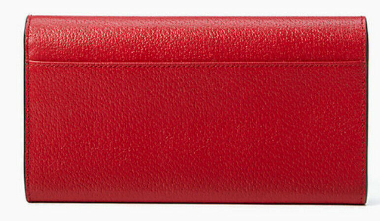Kate Spade wellesley jean Flap Leather Wallet ~NWT~ Red