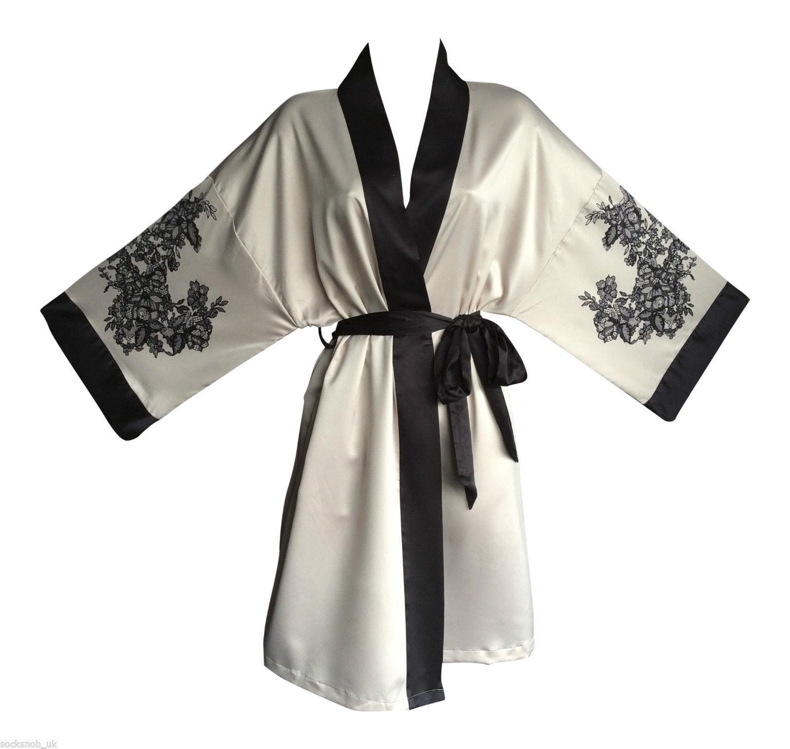 Rosie Slinky Sexy Cream or Red Short Kimono and 41 similar items 6ea14eb39