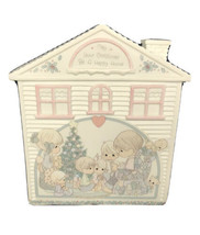 Precious Moments Home For The Holidays 1992 Music Box Christmas Be A Happy Time - $19.79