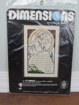 St Francis 1982 Dimensions Counted Cross Stitch Linda K. Powell #3533 Ki... - $28.49