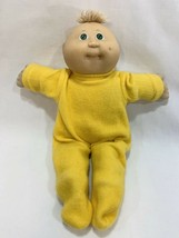Vtg 1985 Cabbage Patch Kids Preemie Doll Tan Tuft Hair Green Eyes w/Outfit #3 HM - $14.84
