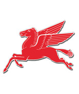 Motor Oil And Gas Large Mobil Pegasus Flying Horse Steel Cut Out  Sign - $123.75