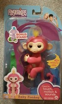 ++ AUTHENTIC WowWee Fingerlings Pink Monkey - Bella - With Bonus Stand - $29.69