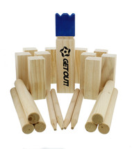 Clearance-Kubb Lawn Game Set 21-Piece with Mesh Drawstring Bag - $25.50