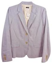 J Crew Sz 12 Blue Grey Chambray 100% Cotton Jacket - $54.69