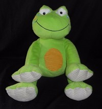"16"" BIG ANIMAL ADVENTURE BABY GREEN FROG CORDUROY PAWS STUFFED ANIMAL PL... - $22.21"