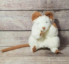 """Folkmanis Plush White Mouse Hand Puppet Stuffed Animal Tail Whiskers 7"""" - $17.45"""