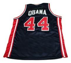 Barack Obama #44 Team USA New Men Basketball Jersey Navy Blue Any Size image 2