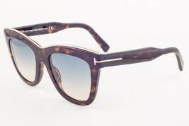 Tom Ford Julie Shiny Dark Havana / Blue Gradient Sunglasses TF685 52P 52mm - $195.02