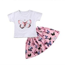 Butterfly Baby Girls  Butterfly set Toddler Kids T-shirt Tops+S Dress  k... - $11.18+