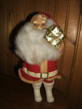 Vintage Santa Holding A Present - 10 Inches - Made In Japan - $7.87