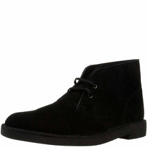 Clarks Shoes, Bushacre 2 Chukka Boots Black Suede 12 M MSRP 100 New - £50.56 GBP