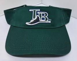 Tampa Bay Devil Rays MLB Green Adjustable Strap Curve Bill Sun Visor Hat - $14.95