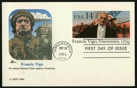 #UX111 14c Francis Vigo, Fleetwood Fdc **Any 4=FREE Shipping** - $1.25
