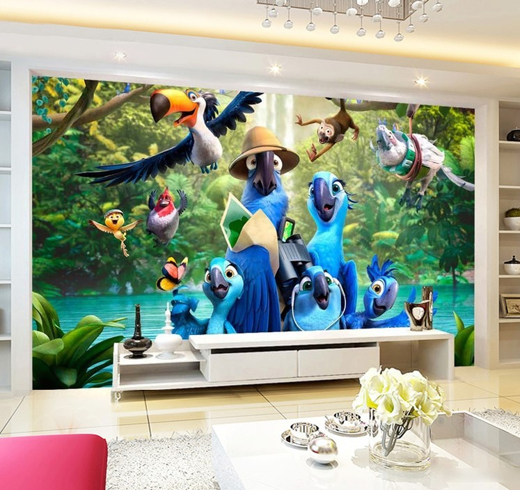 Cute 3d Rio Cartoon Blue Parrots And Other And 50 Similar Items