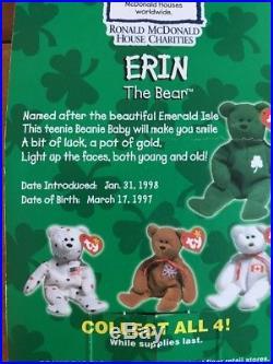 ERIN the BEAR by Ty, Birth Date 1997