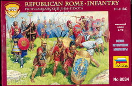 Zveda Republican Rome Infantry Plastic Soldiers - $9.95