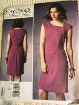 Vogue V1369 Sewing Pattern Dress Fitted Lined Misses' Size 8-16 - $30.00