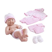 Berenguer Dolls 18543_La Newborn 8 Piece Layette gift set, 14-inch , Pink - $38.90